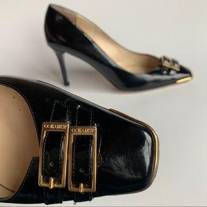 JIMMY CHOO Patent Leather Double Buckle Stilettos